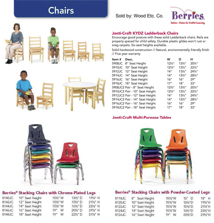 jonti craft early learning furniture tables and chairs